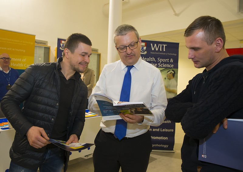 23/02/2016. Free To Use Image. Pictured at WIT (Waterford Institute Of Technology) Adult Learner Information Evening are Denis Klodans and Aurimas Jolaitis from Waterford. Picture: Patrick Browne