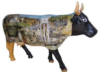 72 B Vaca Romano Tapatia -Artista Humberto Baca- Sponsor Hotel Presidente Intercontinental Guadalajara