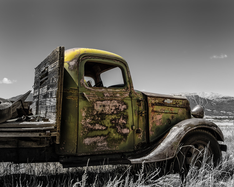 Tired Green Truck