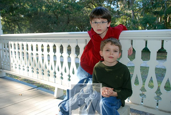 Dylan and Michael, Mom's adopted son, at the Riverside Park in Mandarin, Jacksonville, FL