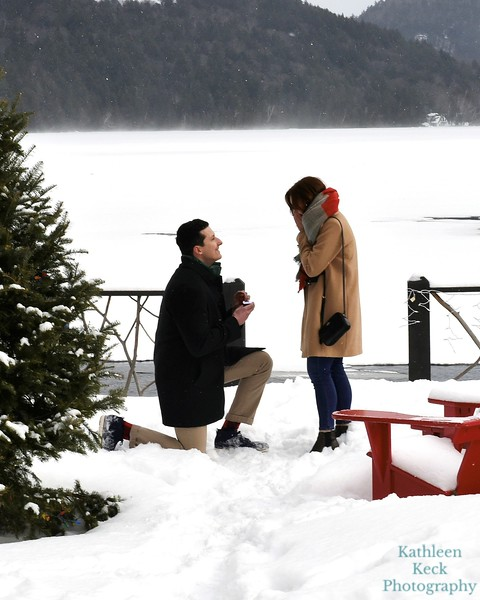 2019 Alyse and Greg Proposal Lake Placid
