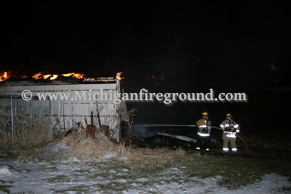 12/31/08 - Delhi Twp barn fire, 658 Wolverine Rd