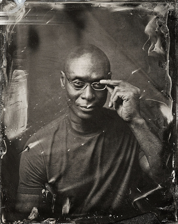 . Lance Reddick poses for a tintype (wet collodion) portrait at The Collective and Gibson Lounge Powered by CEG, during the 2014 Sundance Film Festival in Park City, Utah. (Photo by Victoria Will/Invision/AP)
