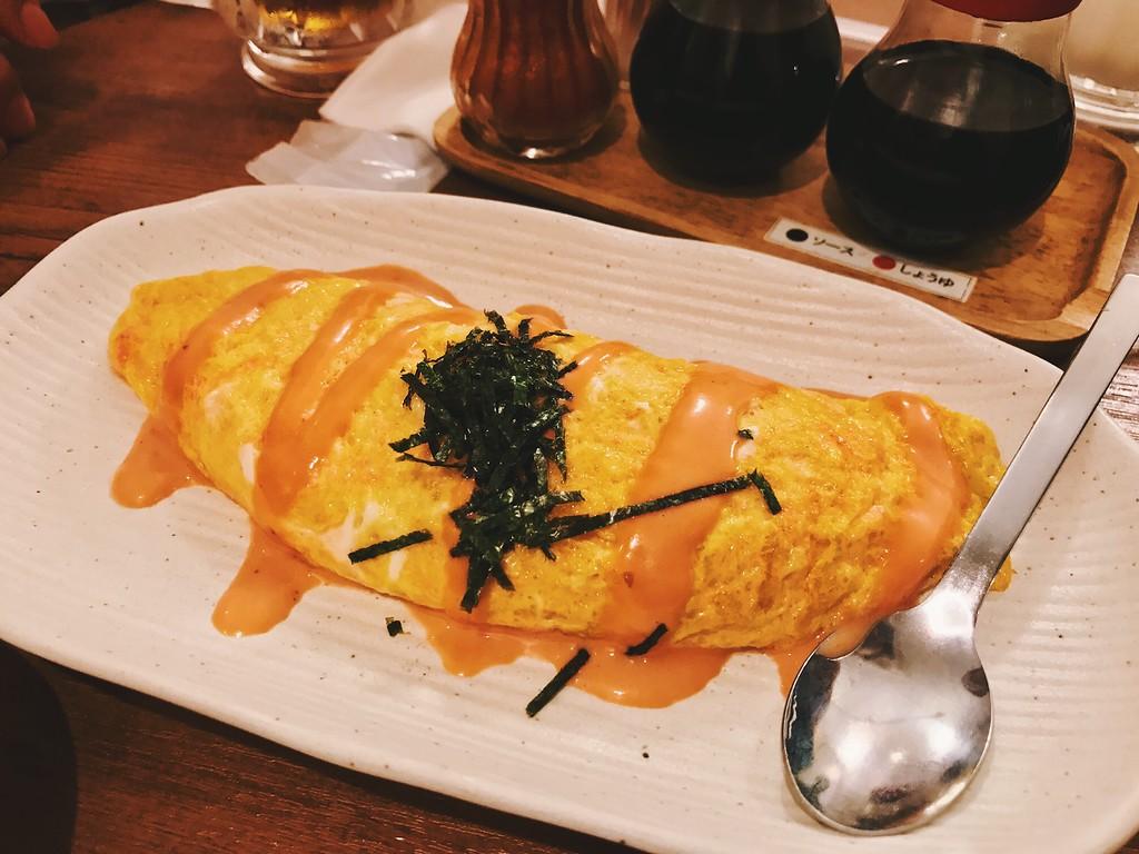 Suiba's mentaiko omelette