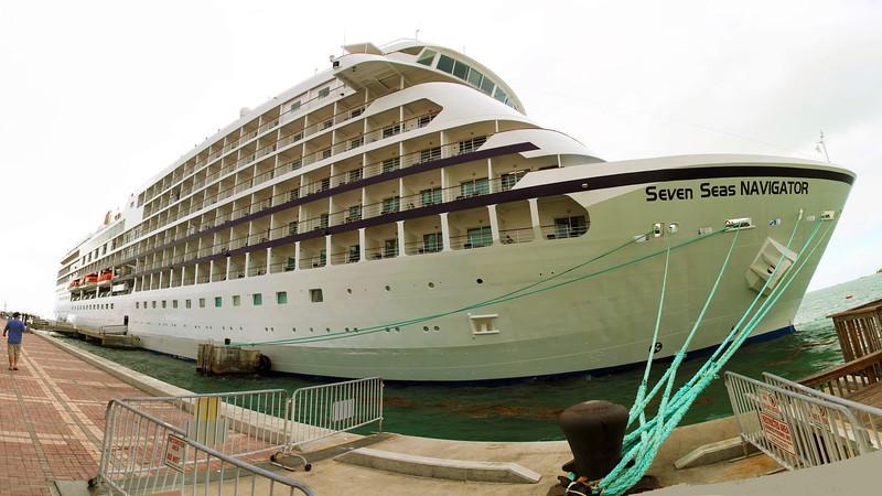 Regency cruise ship, Seven Seas Navigator, at Key West