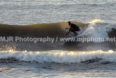 Surfing, Gilgo Beach, NY,  (4-21-07)