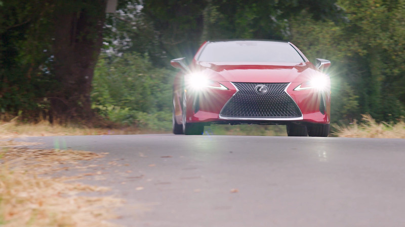 2018 Lexus LC500 Coupe Driving Reel