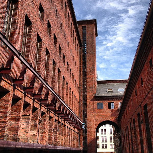 A Bauhaus beauty in glazed red brick. Umspannwerk, the former power station in Kreuzberg. #Berlin