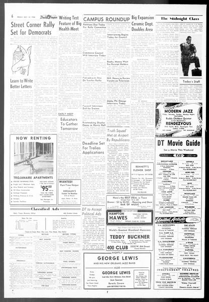 Daily Trojan, Vol. 48, No. 16, October 12, 1956