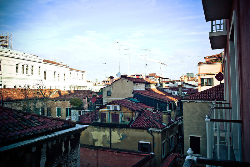 View from our balcony at the Hotel Danieli