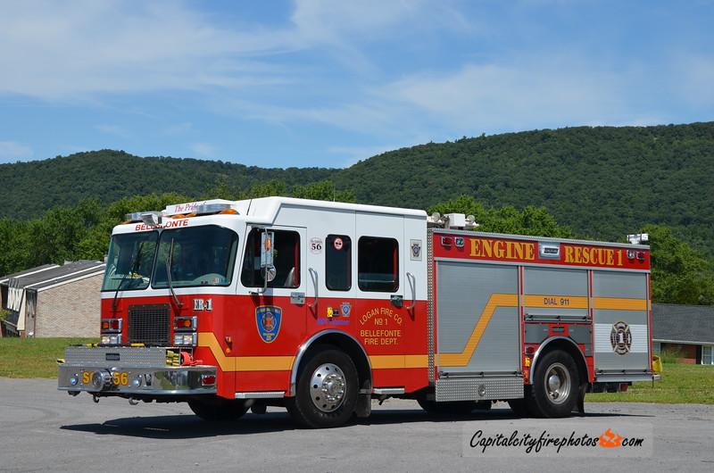 Logan Fire Co., Bellefonte (Centre Co.) Rescue Engine 114: 2001 Spartan/Saulsbury Scorpion