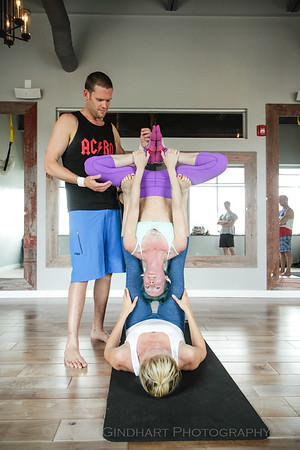 Jessalyn, Preston and Karen AcroYoga Day 2
