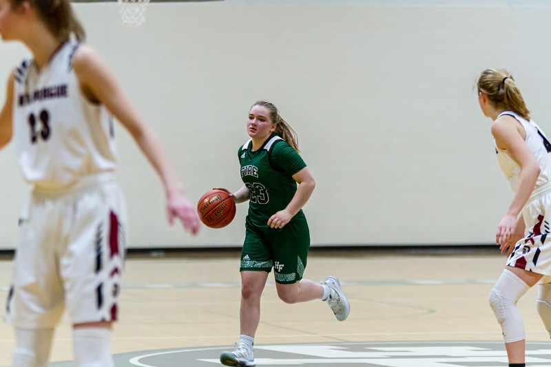 Holy Family Varsity Girls Basketball vs. New Prague, 1/24/20: Nicole Bowlin '23 (23)