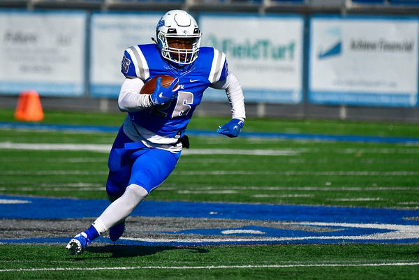 11/9/2019 Mike Orazzi | StaffrCCSU's Keonte Lucas (26) Saturday against Saint Francis in New Britain.