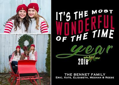 The Bennett Family-Christmas Card 2018