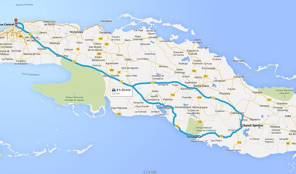 Cuba Tour - Maps