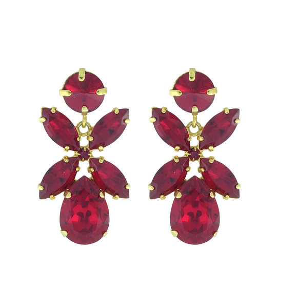 Dione Earrings / Ruby