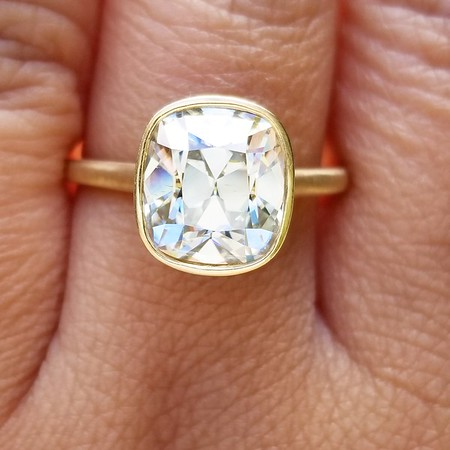 10 x 9mm August Vintage Moissanite Solitaire