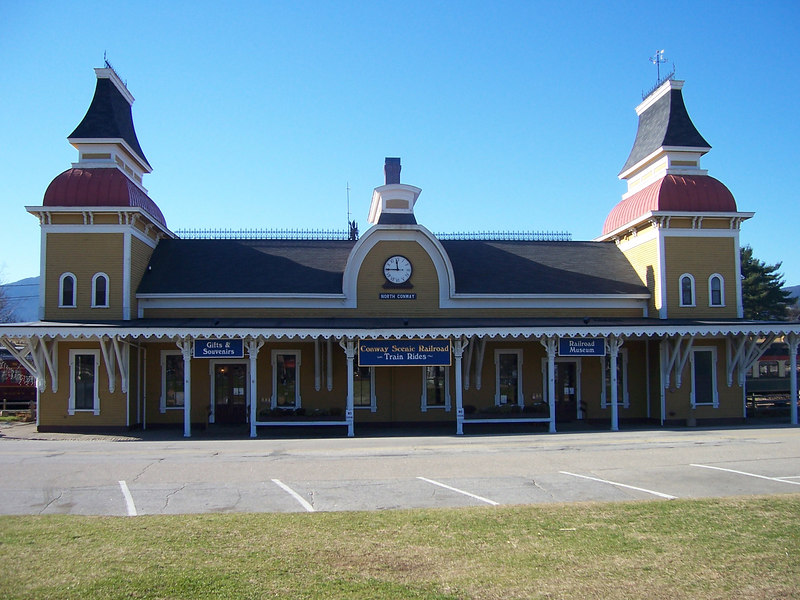 The railroad station for the Conway Scenic Railroad.