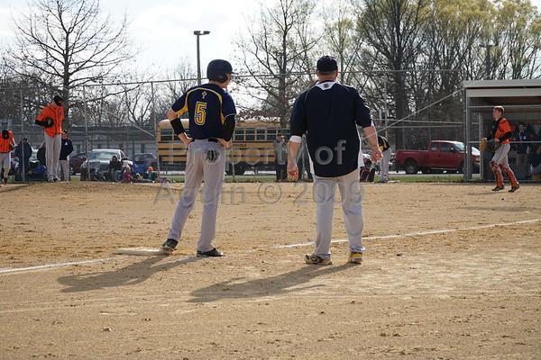 v baseball at milledgeville . 4.11.17