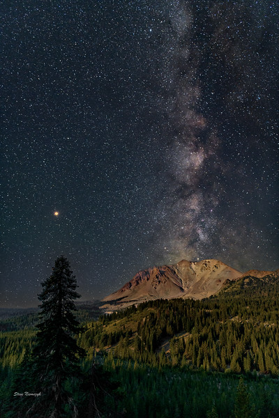 Lassen Peak under Moonlight