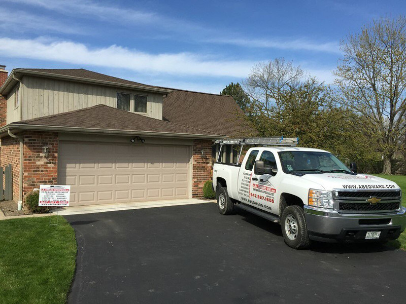 Roofing Shingles, Aluminium Gutters and, Gutter Guard Project in Northbrook IL