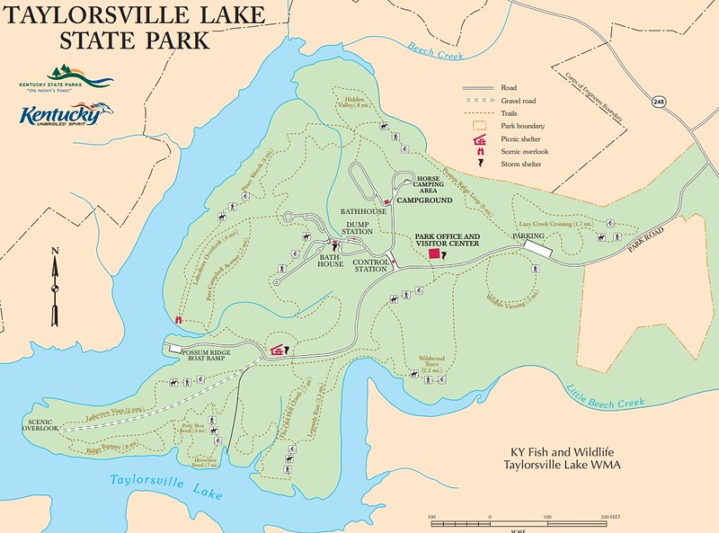 Taylorsville Lake State Park (Trail Map)