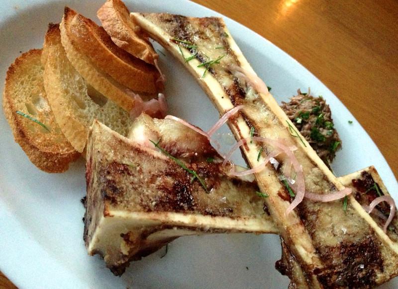 roasted bone marrow at Graze