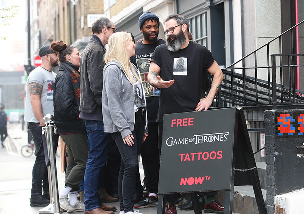 16/4/19 - Now TV The Game of Thrones pop-up tattoo studio