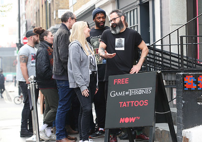 16/4/19 - Now TV The Game of Thrones pop-up tattoo studio