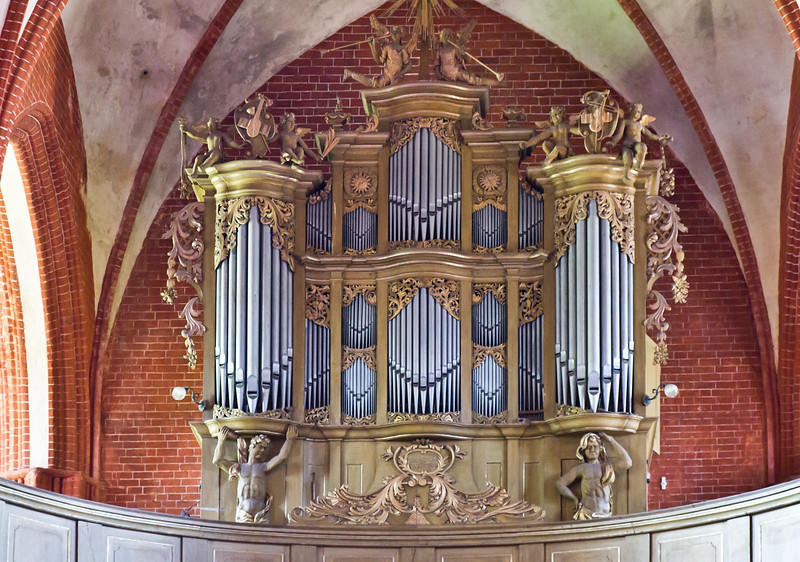 Werben, Johanniskirche, Orgel (Joachim Wagener, 1747)
