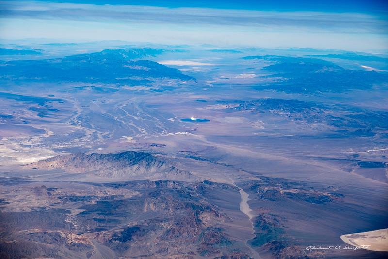 Solar power generator in western Nevada, 186 miles northwest of Las Vegas.