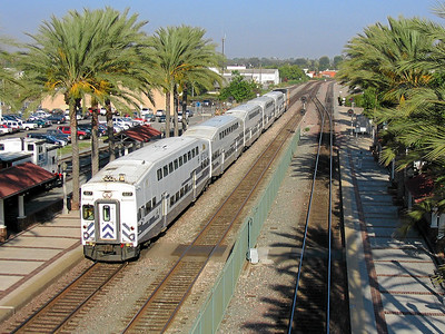 Metrolink at Fullerton, California