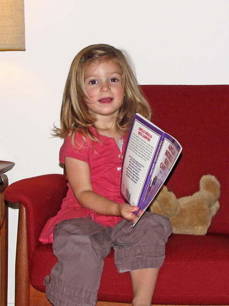 96 Hazel shows the Amelia Bedelia book