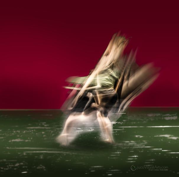 Dancer on Green Floor