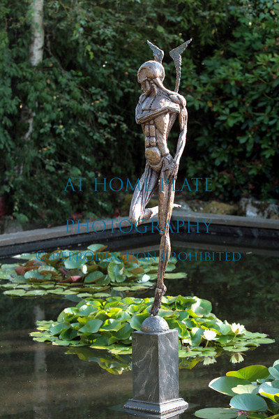 Hughes Water Garden and art by Bud Egger