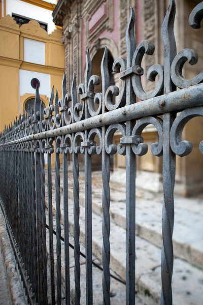 18th century iron railing, San Luis church, Seville, Spain