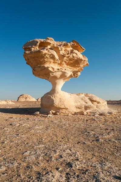 Mushroom Rock Formation, White Desert