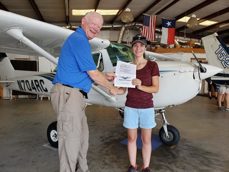 Jordan and her FAA Examiner - A new Pilot