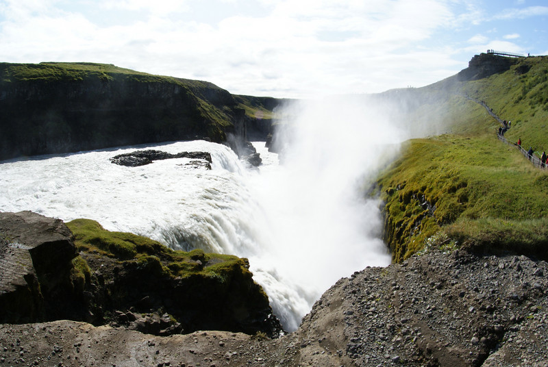 Gullfoss, one of the best waterfalls I've ever seen.These falls generate a crazy wind you can feel a half mile away.