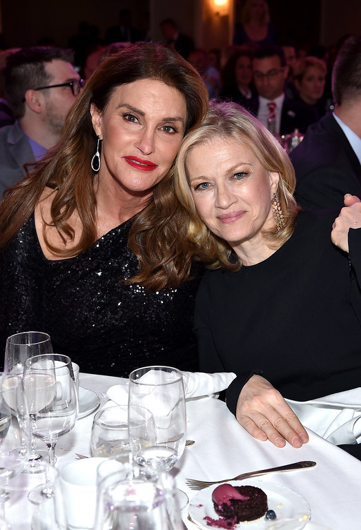 . Diane Sawyer (L) and Caitlyn Jenner attend the 27th Annual GLAAD Media Awards at Waldorf Astoria Hotel in New York on May 14, 2016 in New York City.  (Photo by Dimitrios Kambouris/Getty Images for GLAAD)