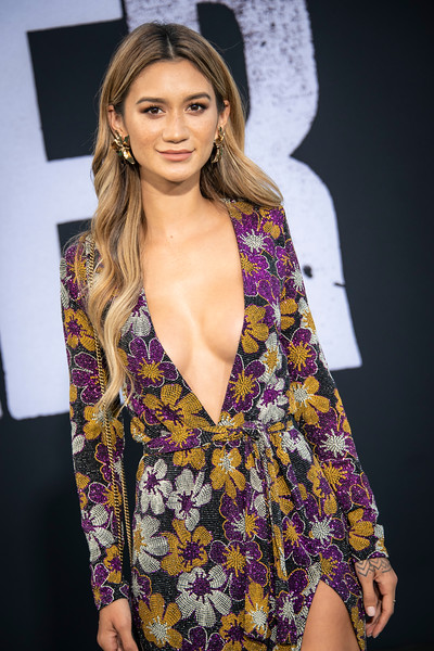"""HOLLYWOOD, CALIFORNIA - SEPTEMBER 28: Jenah Yamamoto attends the premiere of Warner Bros Pictures """"Joker"""" on Saturday, September 28, 2019 in Hollywood, California. (Photo by Tom Sorensen/Moovieboy Pictures)"""