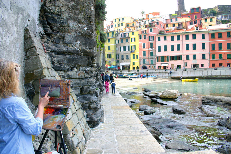 Vernazza being painted!