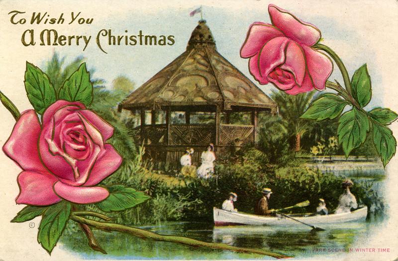 A Merry Christmas Park Scene