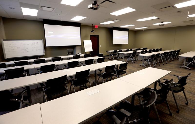 The training room of HoganTaylor in Tulsa.