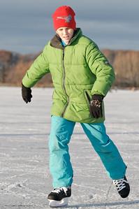 Dezember 2010: Schlittschuhlaufen mit Koppes
