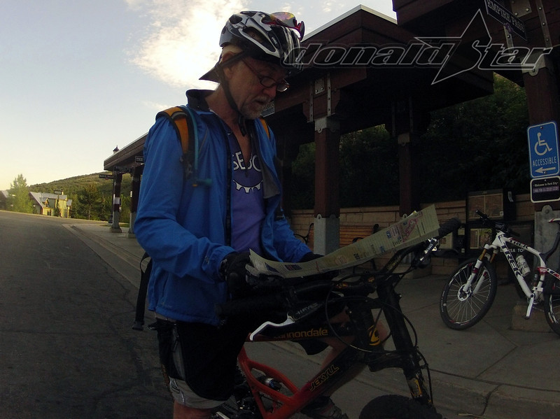 Jim Potts did his share of trail selection, while waiting for the bus.....