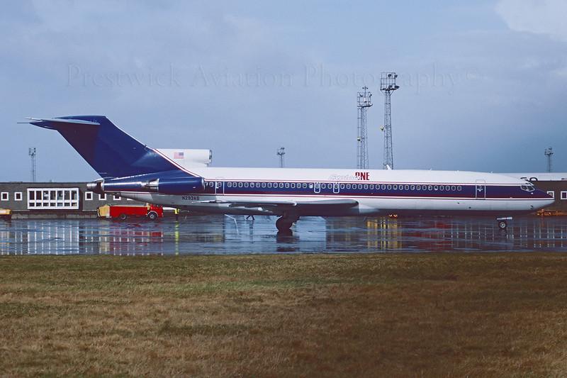 N293AS. Boeing 727-212/Adv Express One. Prestwick. April 1994.