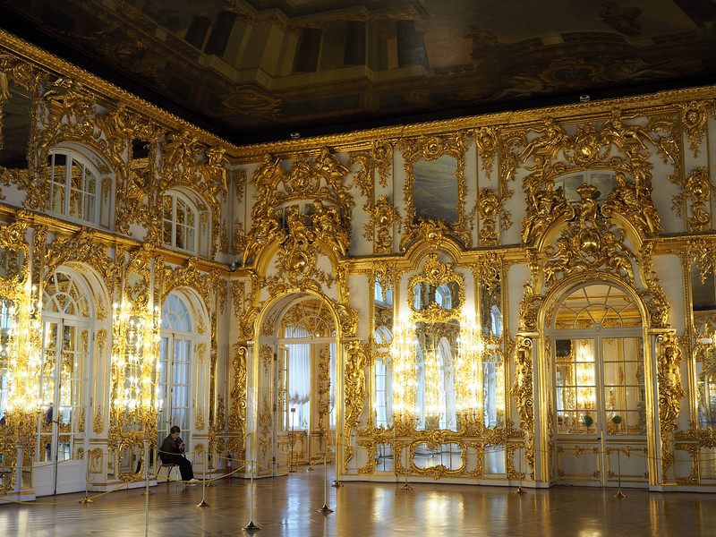 Inside Catherine Palace's great hall