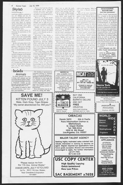 Summer Trojan, Vol. 77, No. 8, July 10, 1979